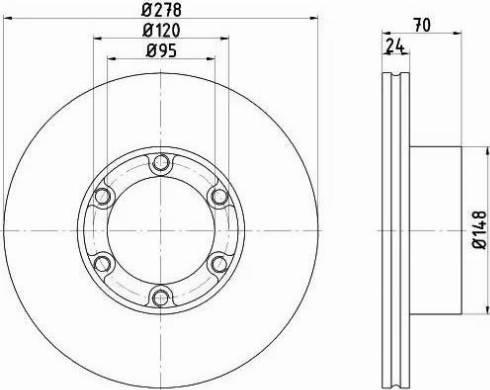 Mintex MDC290 - Bremžu diski autodraugiem.lv