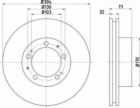 Mintex MDC2352L - Bremžu diski autodraugiem.lv