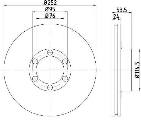Mintex MDC222 - Bremžu diski autodraugiem.lv