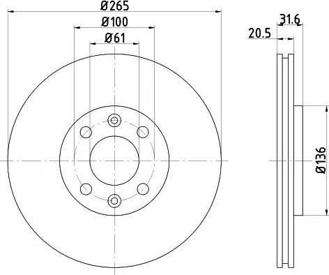 Mintex MDC705 - Bremžu diski autodraugiem.lv