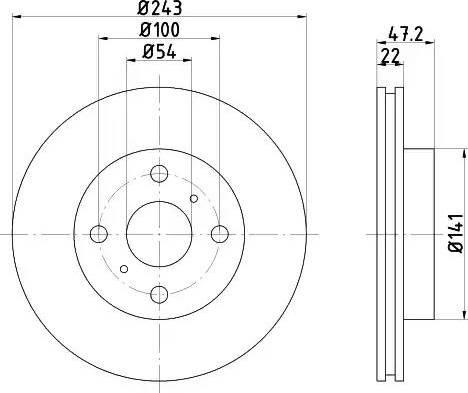 Mintex MDC719 - Bremžu diski autodraugiem.lv