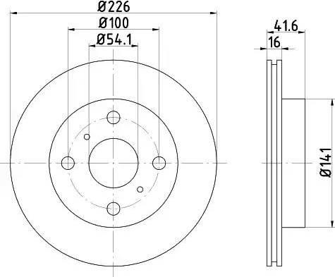 Mintex MDC727 - Bremžu diski autodraugiem.lv