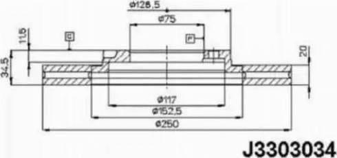 Nipparts J3303034 - Bremžu diski autodraugiem.lv