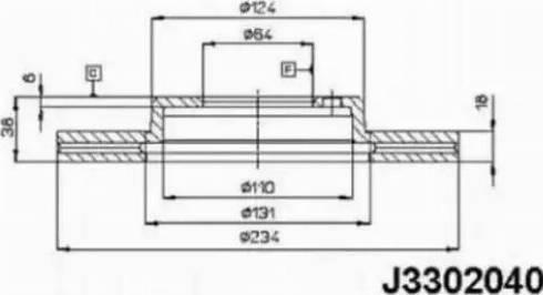 Nipparts J3302040 - Bremžu diski autodraugiem.lv