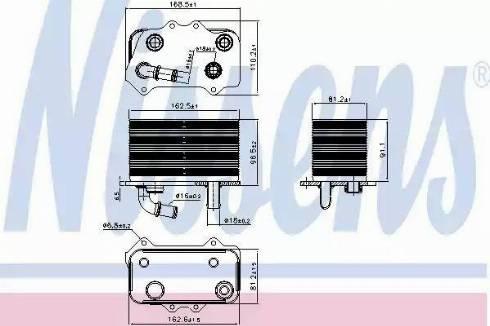 Nissens 90934 - Eļļas radiators, Mehāniskā pārnesumkārba autodraugiem.lv