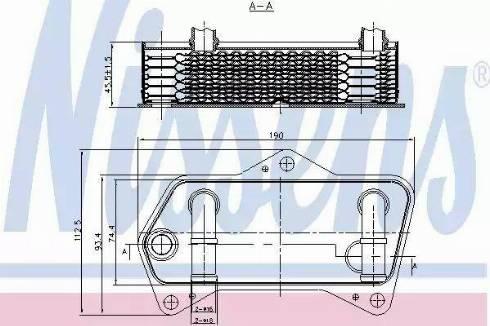 Nissens 90653 - Eļļas radiators, Automātiskā pārnesumkārba autodraugiem.lv