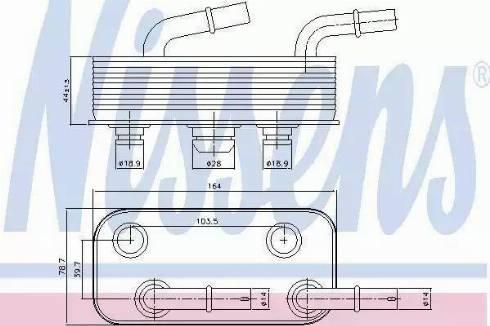 Nissens 90657 - Eļļas radiators, Automātiskā pārnesumkārba autodraugiem.lv