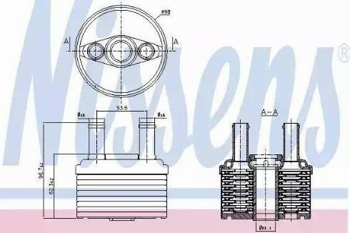 Nissens 90664 - Eļļas radiators, Automātiskā pārnesumkārba autodraugiem.lv