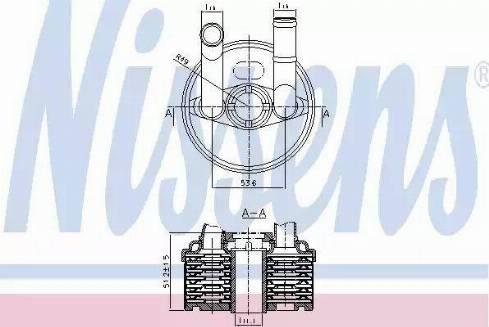 Nissens 90666 - Eļļas radiators, Automātiskā pārnesumkārba autodraugiem.lv