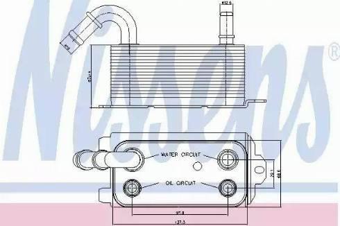 Nissens 90661 - Eļļas radiators, Automātiskā pārnesumkārba autodraugiem.lv