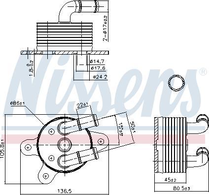 Nissens 90842 - Eļļas radiators, Automātiskā pārnesumkārba autodraugiem.lv