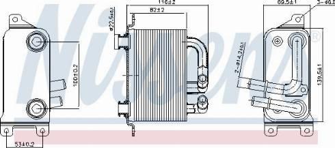 Nissens 90833 - Eļļas radiators, Automātiskā pārnesumkārba autodraugiem.lv