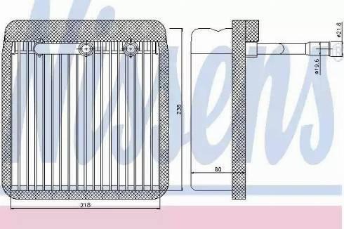 Nissens 92193 - Iztvaikotājs, Gaisa kondicionēšanas sistēma autodraugiem.lv
