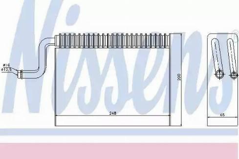 Nissens 92150 - Iztvaikotājs, Gaisa kondicionēšanas sistēma autodraugiem.lv