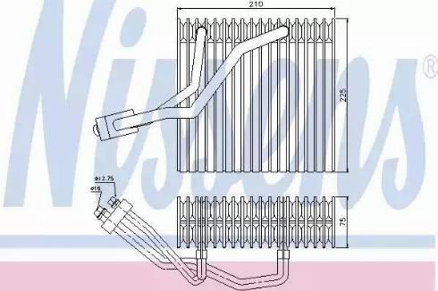Nissens 92176 - Iztvaikotājs, Gaisa kondicionēšanas sistēma autodraugiem.lv
