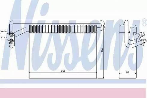 Nissens 92177 - Iztvaikotājs, Gaisa kondicionēšanas sistēma autodraugiem.lv