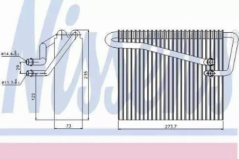 Nissens 92301 - Iztvaikotājs, Gaisa kondicionēšanas sistēma autodraugiem.lv