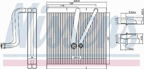 Nissens 92321 - Iztvaikotājs, Gaisa kondicionēšanas sistēma autodraugiem.lv