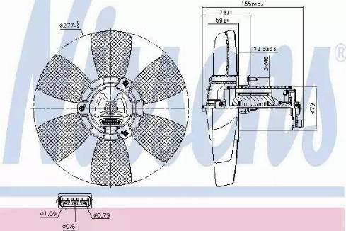 Nissens 85679 - Ventilators, Motora dzesēšanas sistēma autodraugiem.lv