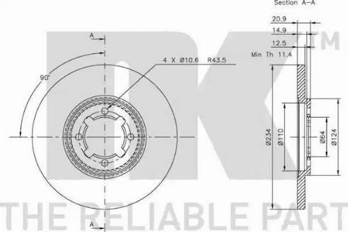 NK 204568 - Bremžu diski autodraugiem.lv