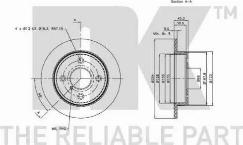 NK 203215 - Bremžu diski autodraugiem.lv