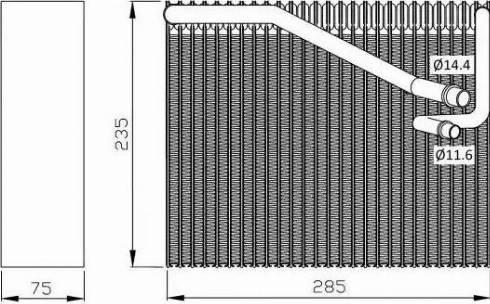 NRF 36081 - Iztvaikotājs, Gaisa kondicionēšanas sistēma autodraugiem.lv