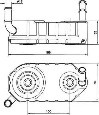NRF 31004A - Eļļas radiators, Automātiskā pārnesumkārba autodraugiem.lv