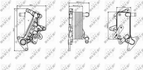 NRF 31357 - Eļļas radiators, Automātiskā pārnesumkārba autodraugiem.lv