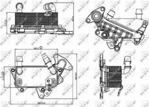 NRF 31264 - Eļļas radiators, Automātiskā pārnesumkārba autodraugiem.lv