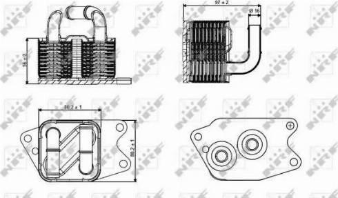 NRF 31265 - Eļļas radiators, Automātiskā pārnesumkārba autodraugiem.lv