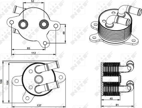 NRF 31750 - Eļļas radiators, Automātiskā pārnesumkārba autodraugiem.lv