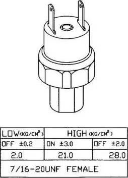 NRF 38919 - Spiediena slēdzis, Gaisa kondicionēšanas sistēma autodraugiem.lv