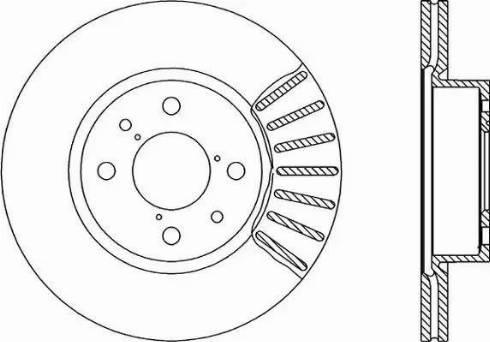 Open Parts BDR1230.20 - Bremžu diski autodraugiem.lv