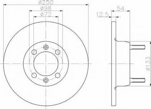 Pagid 50111 - Bremžu diski autodraugiem.lv