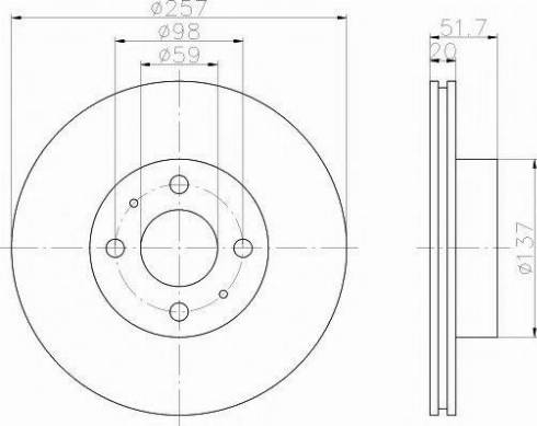 Pagid 51807 - Bremžu diski autodraugiem.lv