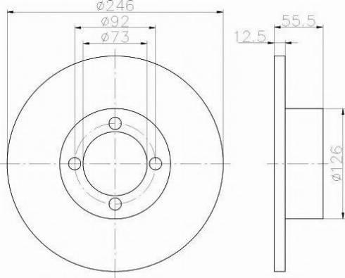 Pagid 52402 - Bremžu diski autodraugiem.lv