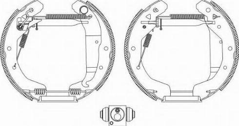 Pagid R0950 - Bremžu komplekts, trumuļa bremzes autodraugiem.lv