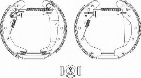 Pagid R1338 - Bremžu komplekts, trumuļa bremzes autodraugiem.lv