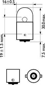 PHILIPS 12814CP - Kvēlspuldze, Pieejas signāla gaisma autodraugiem.lv