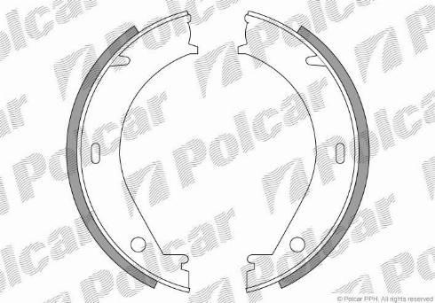 Polcar LS1704 - Bremžu loku kompl., Stāvbremze autodraugiem.lv