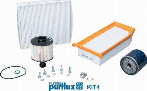Purflux KIT4 - Filtrs-Komplekts autodraugiem.lv