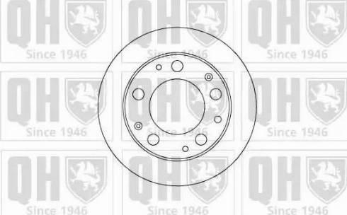 Quinton Hazell BDC4509 - Bremžu diski autodraugiem.lv