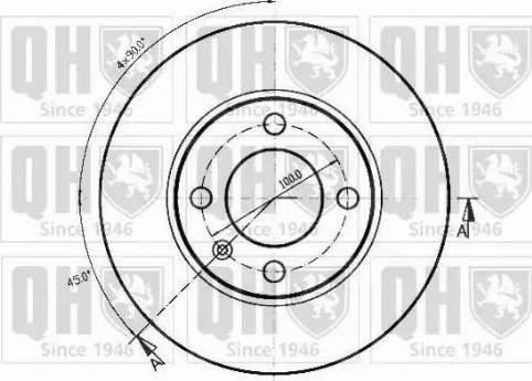 Quinton Hazell BDC1013 - Bremžu diski autodraugiem.lv