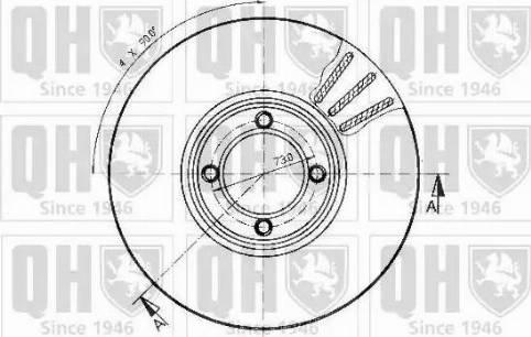 Quinton Hazell BDC3489 - Bremžu diski autodraugiem.lv