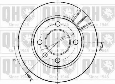 Quinton Hazell BDC3438 - Bremžu diski autodraugiem.lv