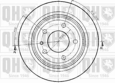 Quinton Hazell BDC3479 - Bremžu diski autodraugiem.lv