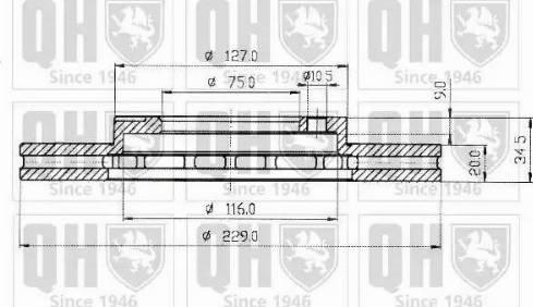 Quinton Hazell BDC3595 - Bremžu diski autodraugiem.lv