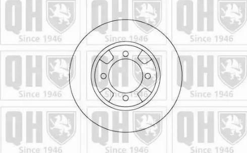 Quinton Hazell BDC3587 - Bremžu diski autodraugiem.lv