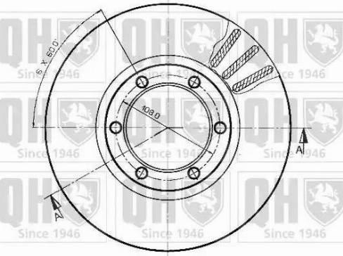 Quinton Hazell BDC3537 - Bremžu diski autodraugiem.lv