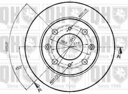 Quinton Hazell BDC3524 - Bremžu diski autodraugiem.lv